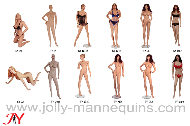 Jolly mannequins-hot selling skin color sexy mannequins Collection