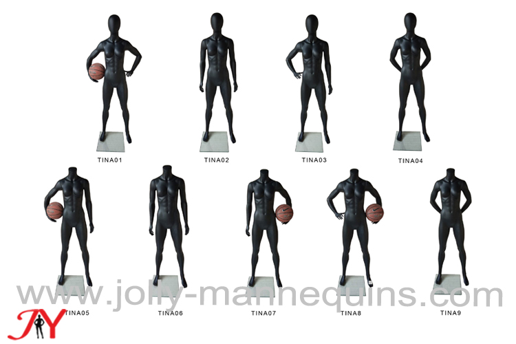 Jolly mannequins-black matt color athletic mannequins TINA collection