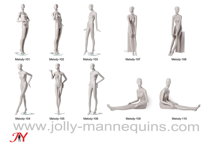 Jolly mannequins-2018 best selling high fashion abstract mannequins female collection Melody-1