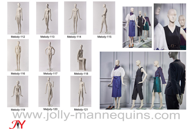 Jolly mannequins-2018 best selling high female store window use mannequins collection Melody-2