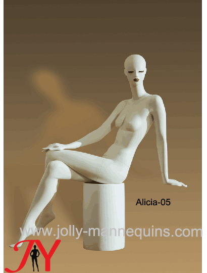 Jolly mannequins-high fashion display luxury stylized sitting female mannequin Alicia-5
