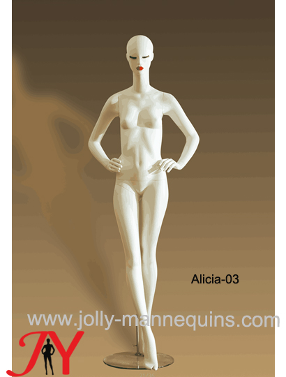 Jolly mannequins luxury stylized female abstract mannequin Alicia-3 white matte