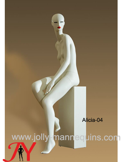 Jolly mannequins-new design abstract fiberglass female mannequin for clothes window display Alicia-4
