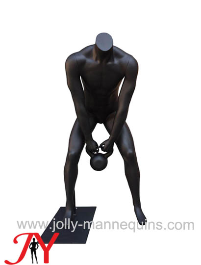Jolly mannequins-Sport mannequin for window display kettle-bell mannequins JY-0044