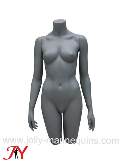 Jolly mannequins-classic gray matt color female headless mannequin torso with arms and hip BUD1-2C-B