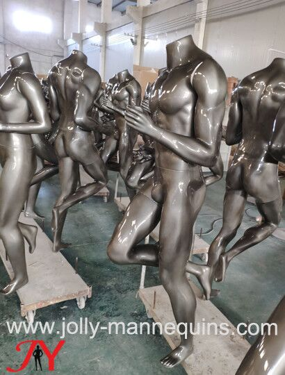 Jolly mannequins-metallic silv..