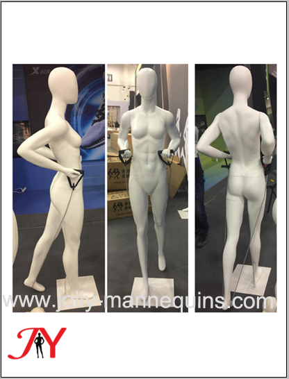 Jolly mannequins sport fitness..