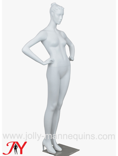jolly mannequins realistic lifelike ponytail sculture hair female mannequin with high heels foot Frida01