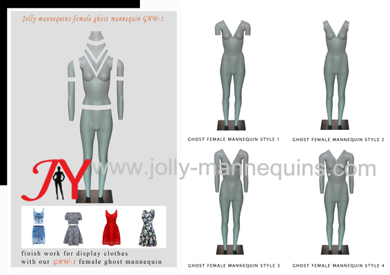 How to use Jolly mannequins female ghost mannequin GHW-1?