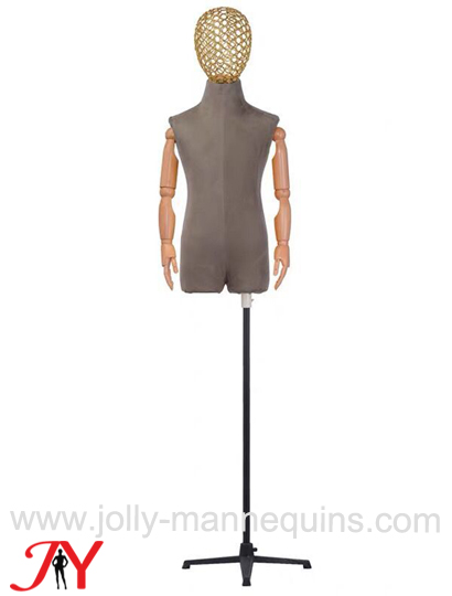 Jolly mannequins adjustable height flexible arms child bust forms
