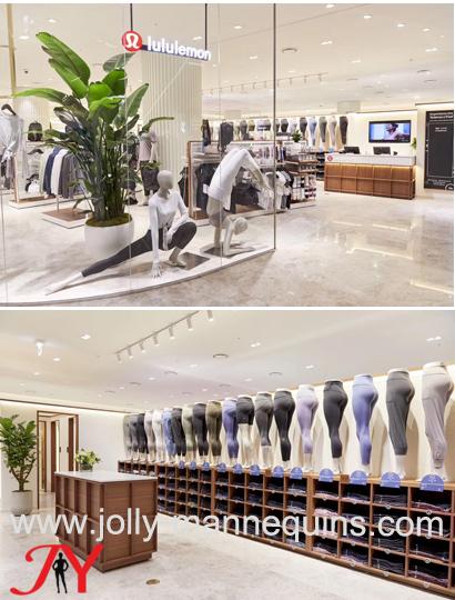 lululemon store yoga mannequin