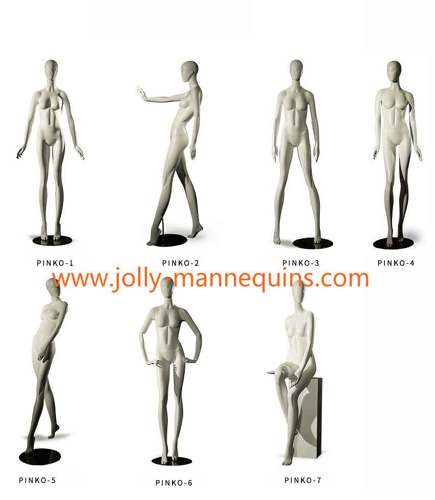 jolly mannequins PINKO retail stores use mannequins female stylized