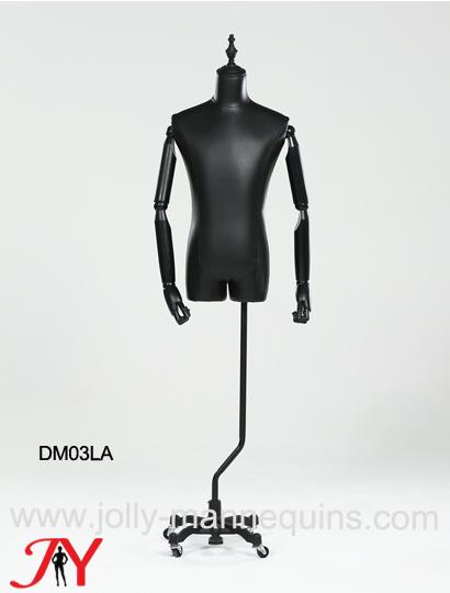 black pu cover luxury male dress form DM03LA