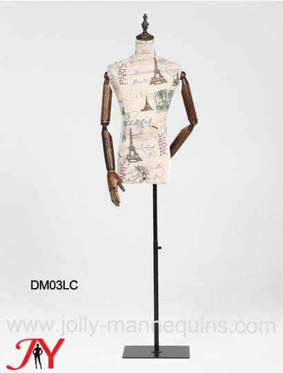 jolly mannequins male dress form adjustable square base