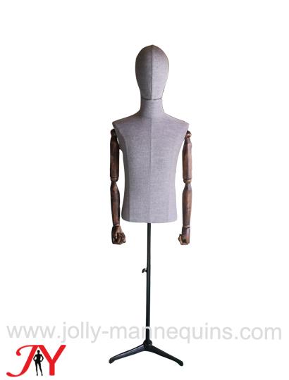 jolly mannequins male dress form linen -DM05LB