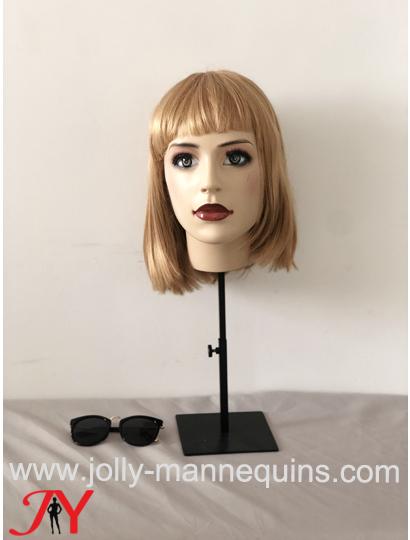 jolly mannequins adjustable height wigs display mannequin head-Anita