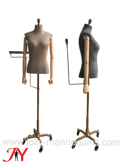 jolly mannequins chest 89cm female adjustable height suits display dress form JY-W054