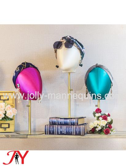jolly mannequins silk cover mannequin head Olga