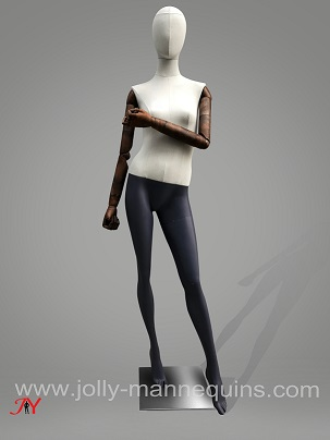 jolly mannequins full body female dress form with black mannequins legs LZF01