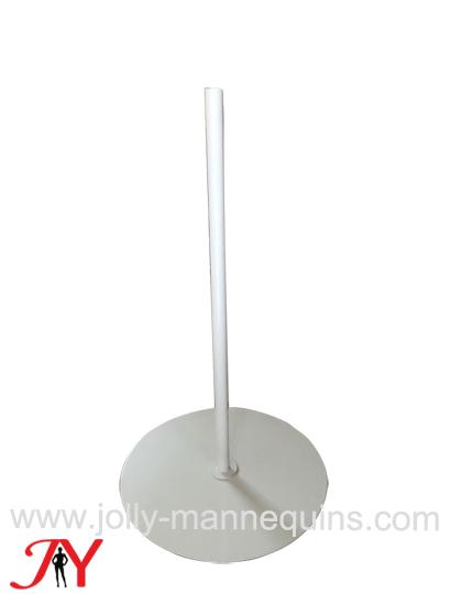 jolly mannequins white matt color round metal dress form mannequin base DB02
