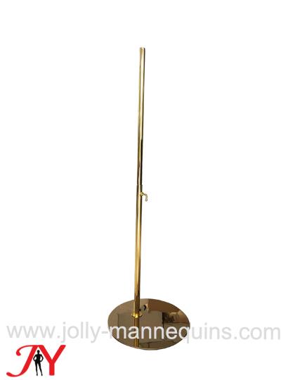 jolly mannequins adjustable height round gold color dress form mannequin base DB03