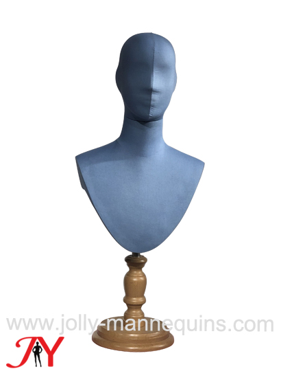 jolly mannequins bowtie display blue color abstract head male mannequin head form MHF01