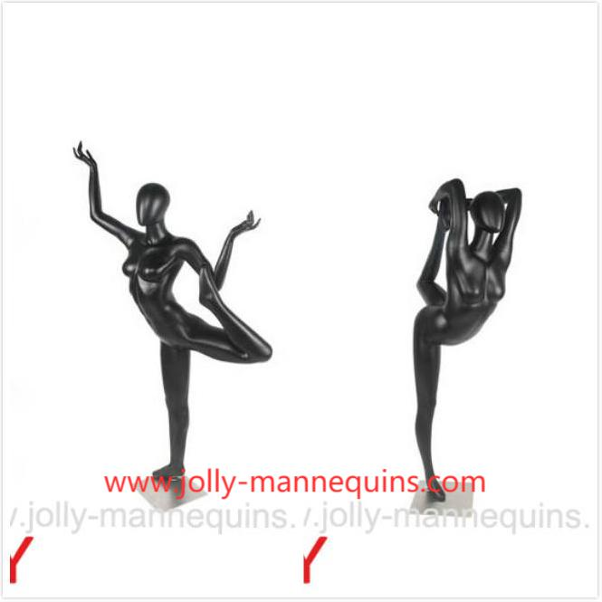 jolly mannequins sport yoga mannequins standing bow poses JR01 and Jr02