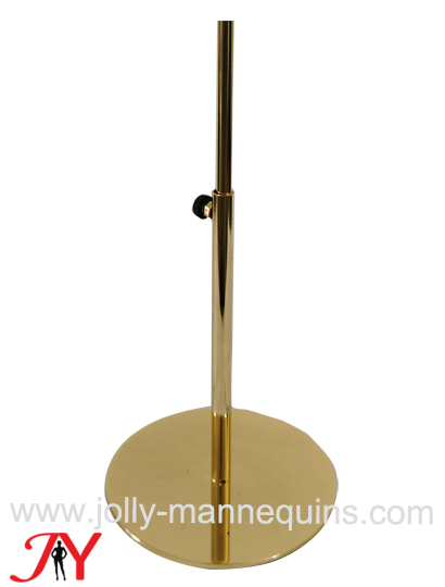 7usd cheap height adjustable round gold mannequin head base