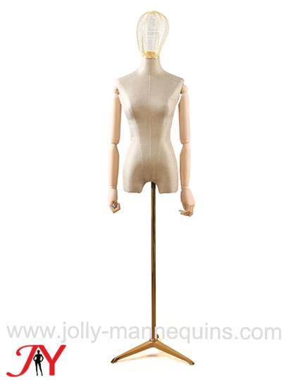 jolly mannequins luxury dutch velvet beige dress form B03
