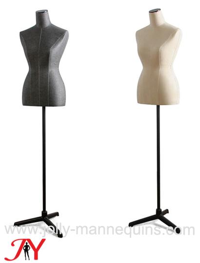 cheap linen adjustable height female dress form B05